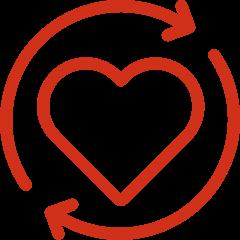 SugaVida Website Heart Circulation Benefit Image red